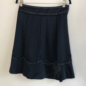 Marc Jacobs navy silk skirt